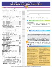 SSF-IIIHS 2015 Conference Registration Form