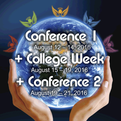 Conference 1 + College Week + Conference 2, Aug. 12 – 21, 2016