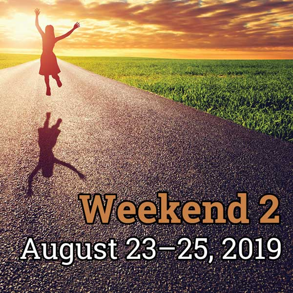 Weekend 2, Aug. 23 – 25, 2019